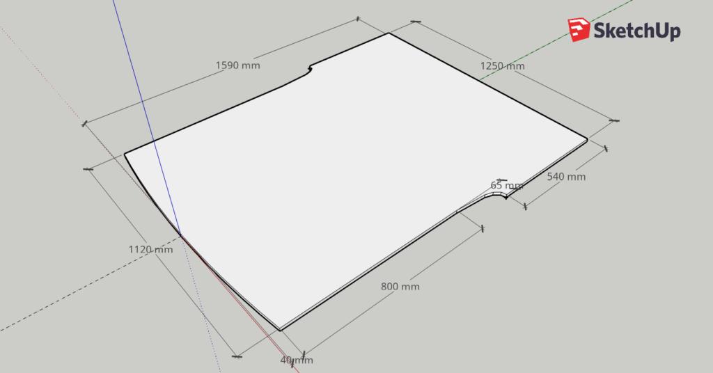 Caddy Bodenplatte Maße Sketchup